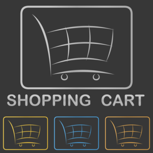 Picture of multiple shopping carts, links to retailmenot.com
