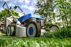 Picture of a lawn mower, symbolizing grass stains