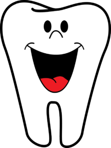A smiling white tooth