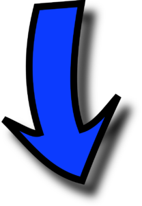 Blue arrow pointing down to the final thought text