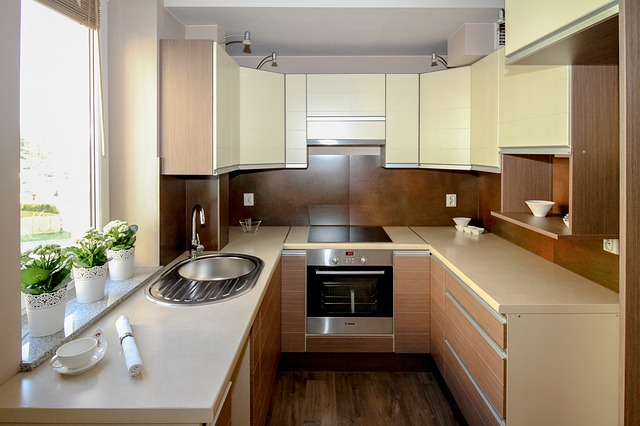 Picture of a kitchen that focuses on the oven